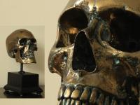 Human skull Bronze