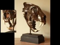 Lion- skull- gun-metal- rusted