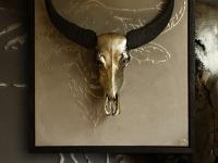 waterbuffalo-skull-on-wall-panel-in-pewter